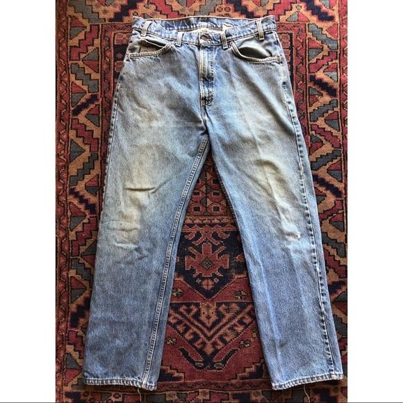 Vintage Levi's 505 orange tab straight leg denim